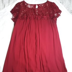 Maroon Dress(Midi)